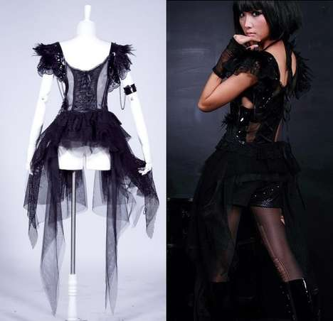 Punk-Inspired Prom Couture - The Gothic Shop's Daenerys Asymmetrical Dress is Unexpected