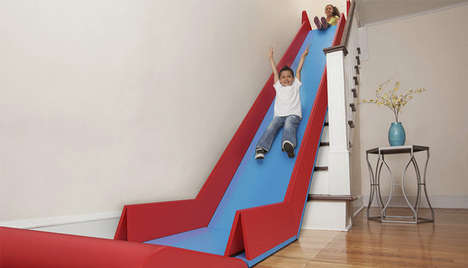 Portable Stair Slides - The SlideRider Converts Any Staircase into a Playground Staple