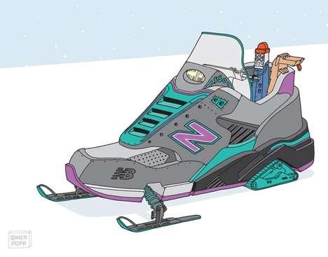 Vehicular Sneaker Illustrations