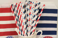 Patriotic Party Essentials - Etsy Shop ThePartyFairy Creates Picnic-Ready Memorail Day Straws