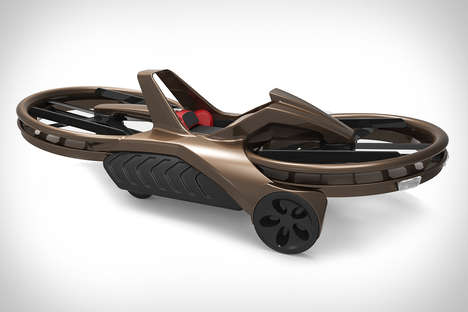 Anti-Gravity Bikes - Aero-X Hoverbike Lets You Ride Above Any Landscape