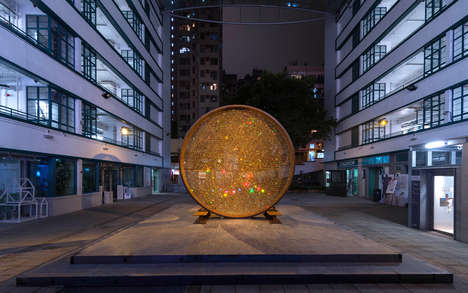 Glimmering Crystal Sculptures