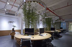 Foliage-Covered Offices - JW Associates Develops a Forward-Thinking Office Design in Shanghai