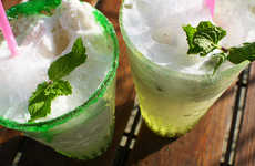 Boozy Mint Floats - This Mojito Float Turns the Popular Mint Cocktail Into a Boozy Ice Cream Treat
