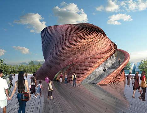 Fluidly Twisting Pavilions