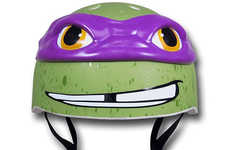 Cinematic Reptile Helmets - Enjoy Riding in Style with the Teenage Mutant Ninja Turtle Bike Helmets
