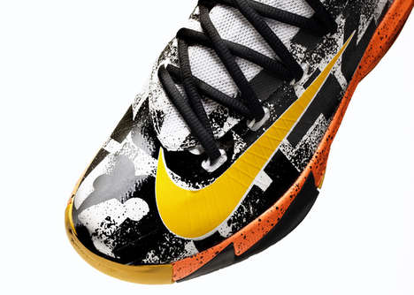 Pixelated Basketball Sneakers