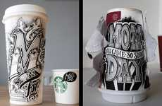 Coffee Cup Typography - In Coffee Time Artist Rob Draper Does Hand Lettered Coffee Cup Designs
