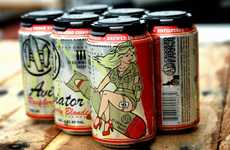 Eccentric Tattoo-Like Branding - Crooked Fence Brewery's Eclectic Beer Packaging Gets it Just Right