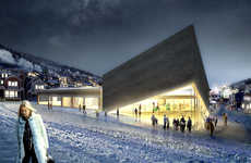 Mountain-Mimicking Art Centers