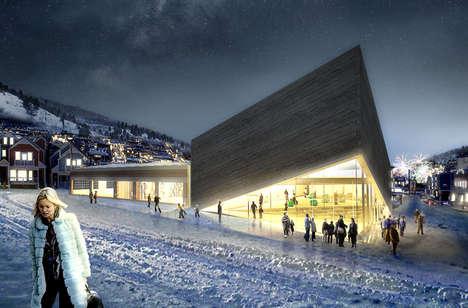 Mountain-Mimicking Art Centers