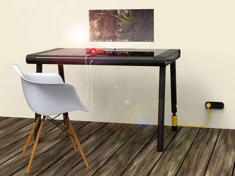 Laptop-Integrated Desks