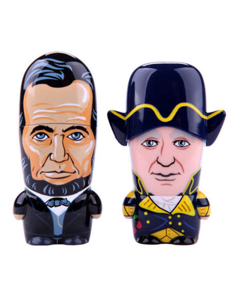 Patriotic USB Accessories - These President Flash Drives from Mimobot Celebrate National Leaders