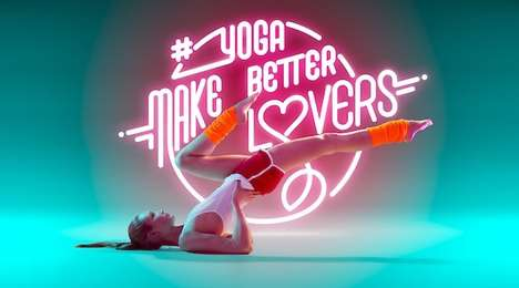 Neon Yoga Photography - Björn Ewers Showcases Neon Typography with the Help of a Professional Yogi