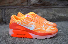 Geometric Creamsicle Sneakers - The Nike Air Max 90 ICE Shoes are Deliciously Bright