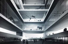Geometric Museum Proposals - Comac Uses a Cubed Structure for the Berlin Natural Science Museum