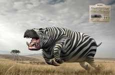 Powerful Animal Hybrid Ads - These Kingston USB 3.0 1TB Ads Boast Speed and Size