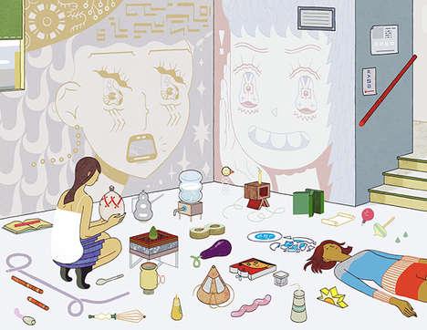 Exuberant Pop Cultural Illustrations