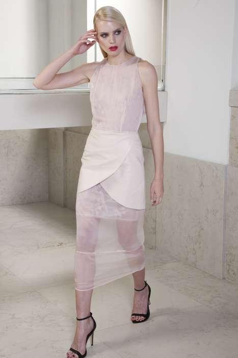 Glam Gauze-Inspired Fashions