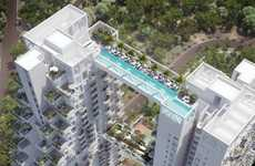 Towering Building-based Pools - The Sky Habitat Structure is Connected with an Aerial Swimming Space