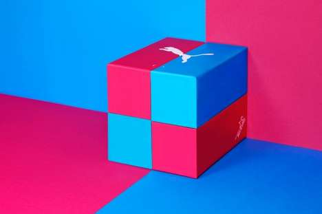 Colorblocked Shoe Packaging