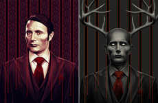 Stylized Cannibal Prints - These Hannibal Prints Give Serious Style to the Human Eating Killer