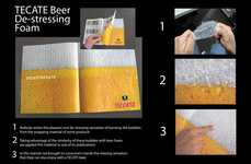 Poppable Beer Ads - The TECATE Beer Ad Creates Bubble Wrap Beer Foam for Consumers to Play With