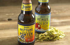 God-Inspired Beer Branding - Jupiter Beer Takes a Heavenly Approach to Packaging