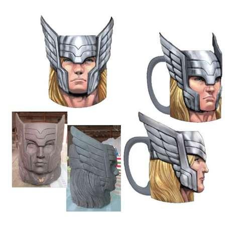 Superhero Visage Mugs