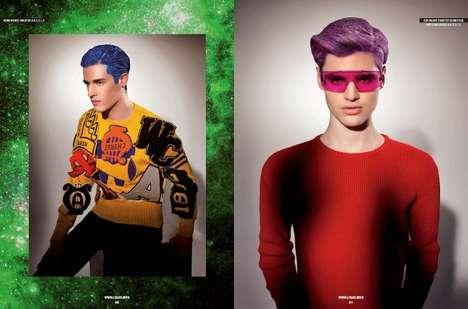 Highlighter-Haired Model Captures
