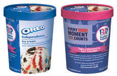 American Flag Ice Creams - The Independence Oreo Cookie Ice Cream is Filled with Stars and Stripes