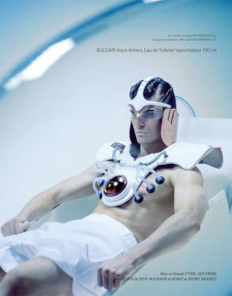 Futuristic Fragrance Editorials