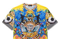 Opulent Soccer Tournament Tees - The Versace Loves Brazil T-Shirt Celebrates the 2014 FIFA World Cup