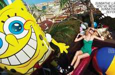 SpongeBob-Themed Editorials - The Fashion & Beauty Milan May- Cover Shoot Stars Vera H