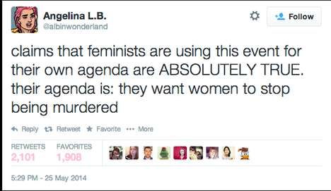 Female-Empowering Twitter Campaigns - #YesAllWomen Campaigns for Rights in the Wake of UCSB Shooting
