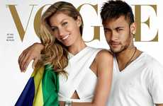 Brazilian Pride Covers - The Vogue Brazil Cover Shoot Creates Buzz for the World Cup