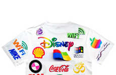 Lo-Fi Logo Apparel - The Brainwash Tee from Shop Jeen Featurs the World's Most Recognized Logos