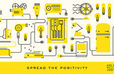Cheerful Sustainable Branding - Positive Energy's Memorable Visual Branding is Vibrant