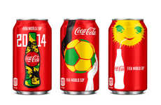 Sporty Street Art Cans - These Special Edition Coca-Cola World Cup Cans Pay Tribute to Brazil
