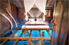 Glass-Bottomed Vacation Homes - Bambu Indah Contains Luxury Cabins in the Indonesian Hills