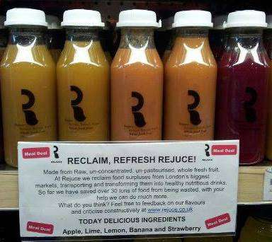 Salvaged Smoothies - Rejuce Uses Food Surpluses for Eco-Friendly Juices and Soups