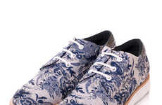 Porcelain Patterned Sneakers - The Swedish-Made Gram Shoes Come in Chic Prints