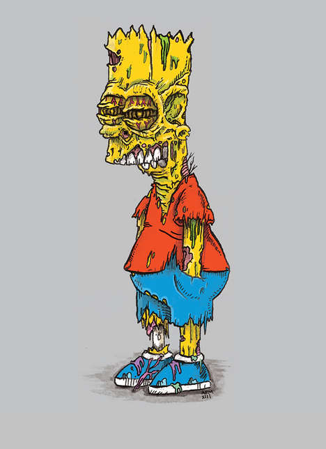 Zombified Cartoon Characters