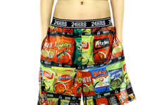 Snack Fanatic Menswear - These Vending Machine Shorts by Lip Service Celebrate Tasty Treats