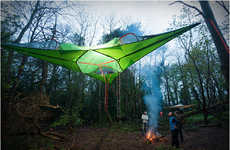 Communal Treehouse Tents - The Tentsile Connect Tree Tent Provides More Aboveground Space