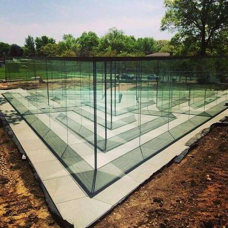 Transparent Labyrinth Installations - This See Through Glass Maze's Path Isn't as Clear as its Walls