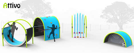Fitness-Encouraging Playgrounds - Attivo by John Ditchburn Helps Children Become More Active