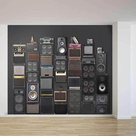 Speaker Stack Wallpaper Strips