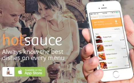 Curated Food Apps - The Hotsauce App Spices Up Your Dining Experience