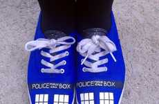 Time Machine Sneakers - These TARDIS-Painted Sneakers Commemorate Doctor Who